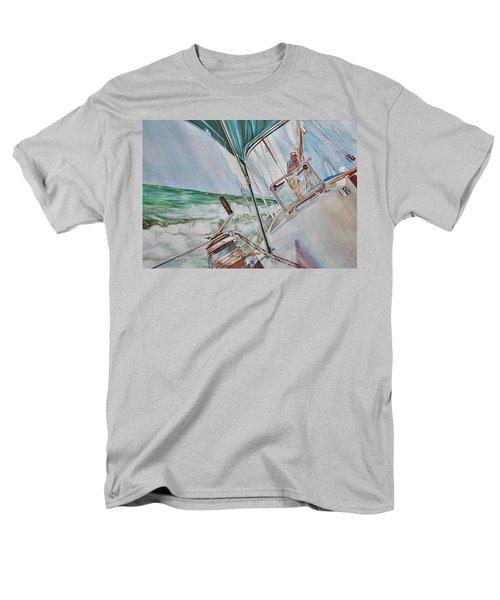 Beating Windward Men's T-Shirt  (Regular Fit) by P Anthony Visco