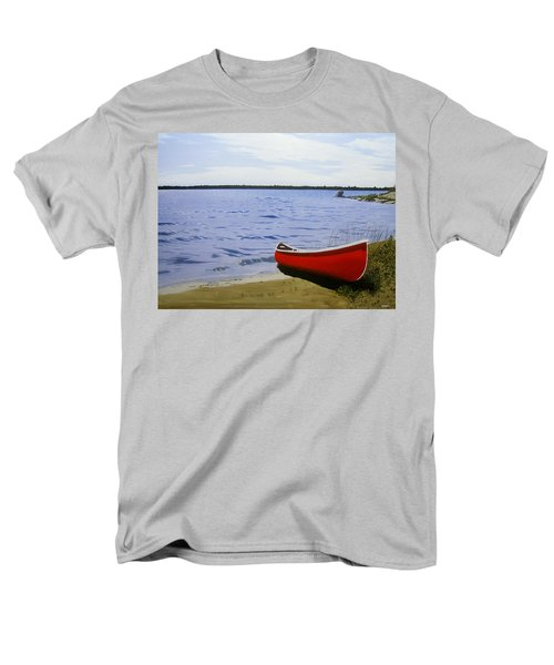 Beaultiful Red Canoe Men's T-Shirt  (Regular Fit) by Kenneth M  Kirsch
