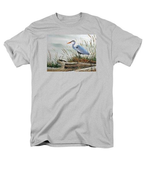 Beautiful Heron Shore Men's T-Shirt  (Regular Fit) by James Williamson