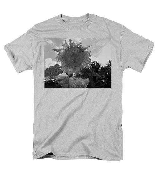 Men's T-Shirt  (Regular Fit) featuring the digital art Bees On A Sunflower by Chris Flees