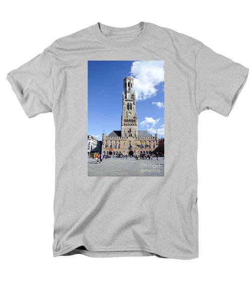 Men's T-Shirt  (Regular Fit) featuring the photograph Belfry Of Bruges by Pravine Chester