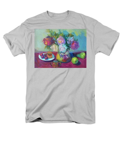 Men's T-Shirt  (Regular Fit) featuring the painting Belgian Creamer And Sugar by Diane McClary