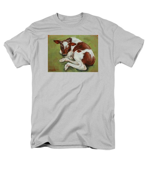Men's T-Shirt  (Regular Fit) featuring the painting Bendy New Calf by Margaret Stockdale
