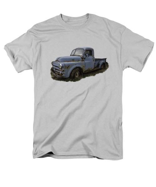 Men's T-Shirt  (Regular Fit) featuring the photograph Big Blue Dodge Alone by Debra and Dave Vanderlaan