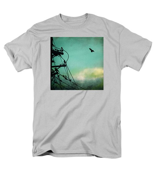 Men's T-Shirt  (Regular Fit) featuring the photograph Bird City Revisited by Trish Mistric