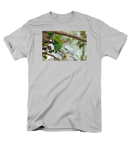 Men's T-Shirt  (Regular Fit) featuring the photograph Bird In The Bush by Pravine Chester