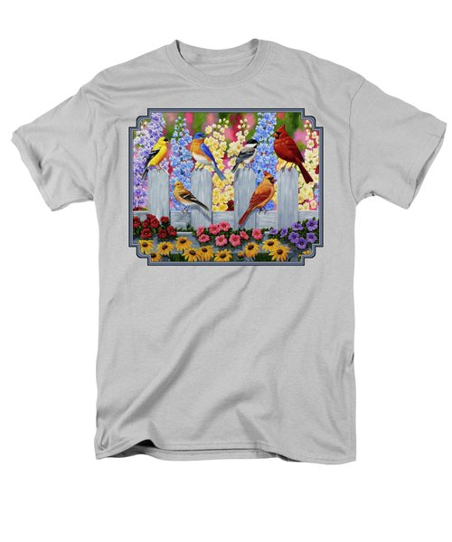 Bird Painting - Spring Garden Party Men's T-Shirt  (Regular Fit) by Crista Forest