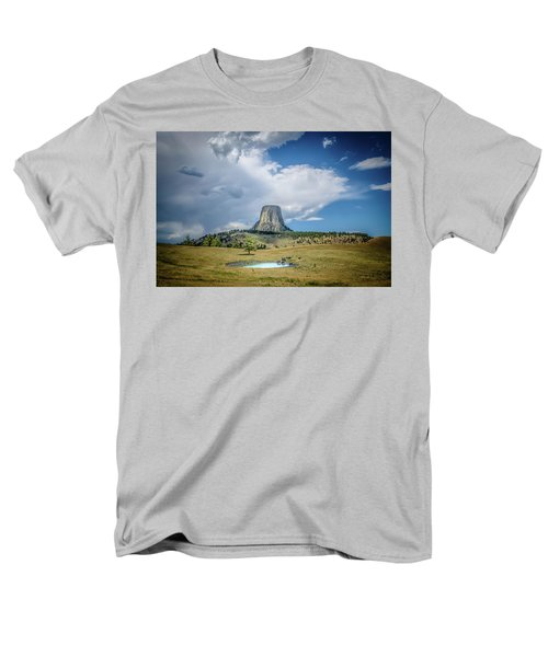 Bison Pond Men's T-Shirt  (Regular Fit) by Mark Dunton