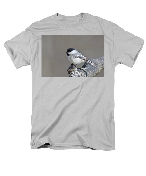Men's T-Shirt  (Regular Fit) featuring the photograph Black Capped Chickadee 1128 by Michael Peychich