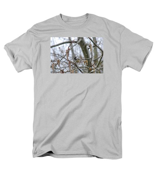 Men's T-Shirt  (Regular Fit) featuring the photograph Black-capped Chickadee 20120321_38a by Tina Hopkins