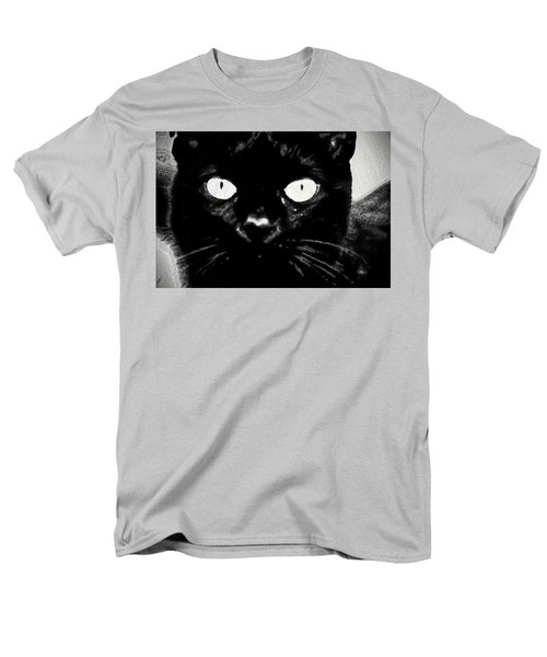 Black Cat Men's T-Shirt  (Regular Fit) by Gina O'Brien