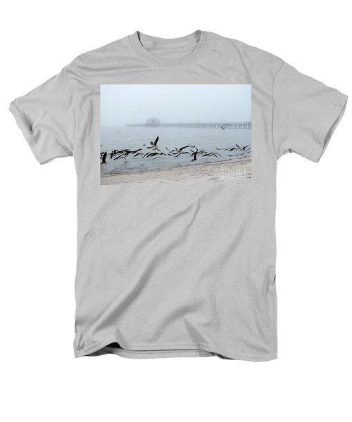 Black Skimmers - Biloxi Mississippi Men's T-Shirt  (Regular Fit) by Scott Cameron
