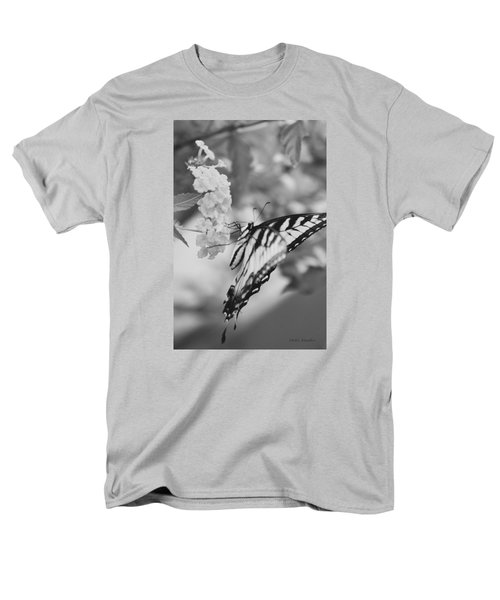 Men's T-Shirt  (Regular Fit) featuring the photograph Black/white Butterfly by Debra     Vatalaro