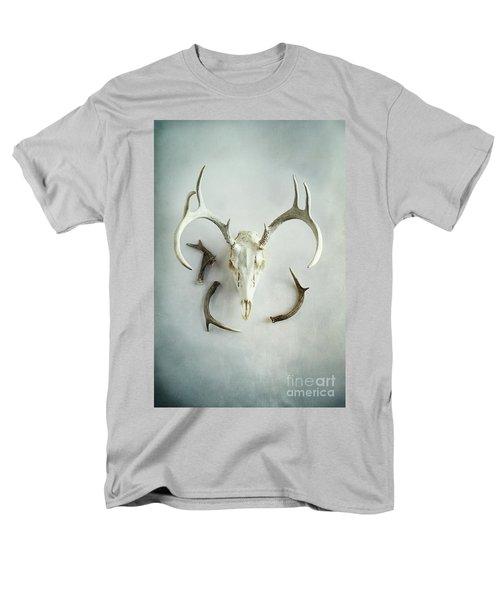 Bleached Stag Skull Men's T-Shirt  (Regular Fit)
