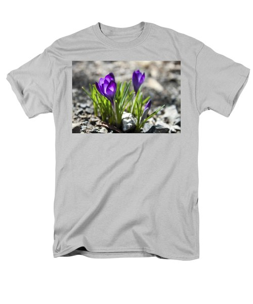 Men's T-Shirt  (Regular Fit) featuring the photograph Blooming Crocus #1 by Jeff Severson