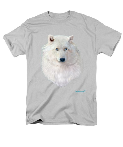 Blue-eyed Snow Wolf Men's T-Shirt  (Regular Fit) by Glenn Holbrook
