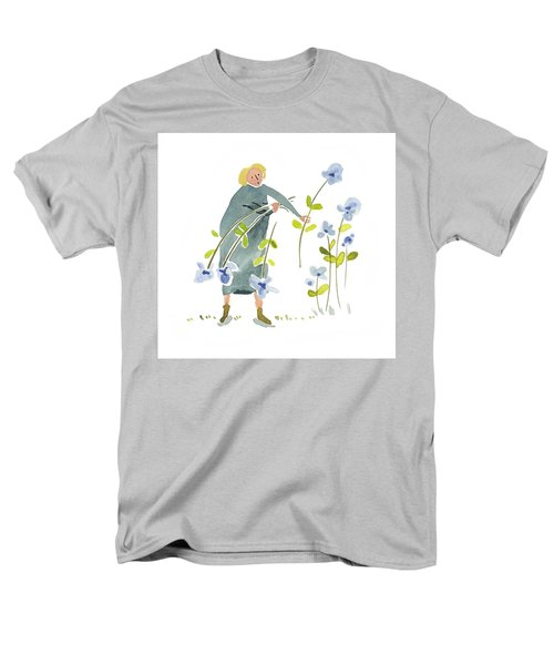 Men's T-Shirt  (Regular Fit) featuring the painting Blue Harvest by Leanne WILKES