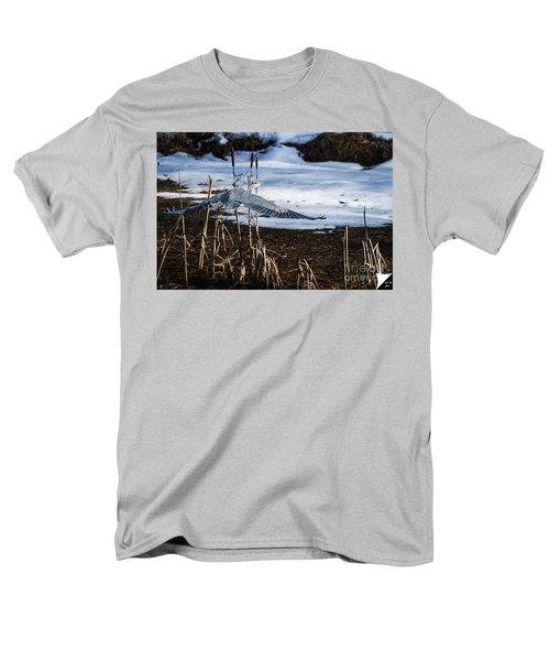 Men's T-Shirt  (Regular Fit) featuring the photograph Blue Heron by Jim  Hatch