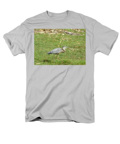 Blue Heron Men's T-Shirt  (Regular Fit) by Robin Regan