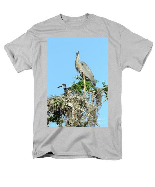 Men's T-Shirt  (Regular Fit) featuring the photograph Blue Heron Series Baby 2 by Deborah Benoit