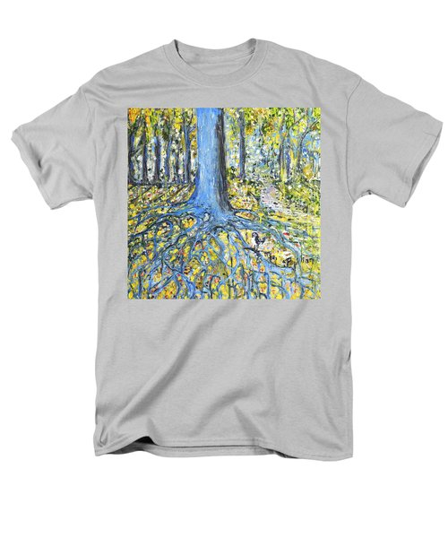 Blue Roots Men's T-Shirt  (Regular Fit) by Evelina Popilian