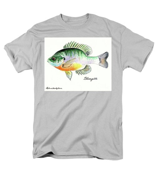 Men's T-Shirt  (Regular Fit) featuring the painting Bluegill Fish by LeAnne Sowa