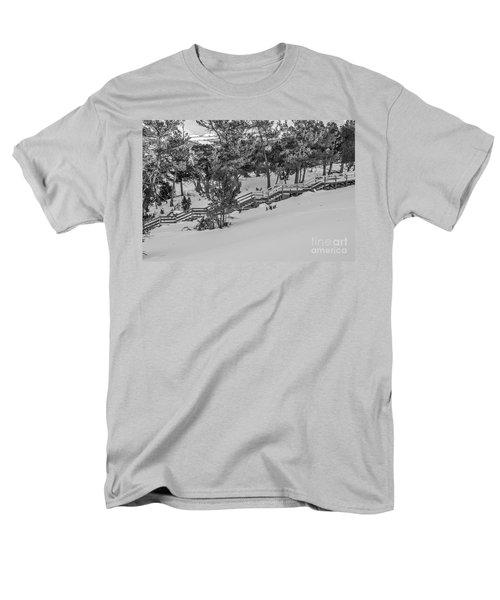 Boardwalk Climbing A Hill Men's T-Shirt  (Regular Fit) by Sue Smith