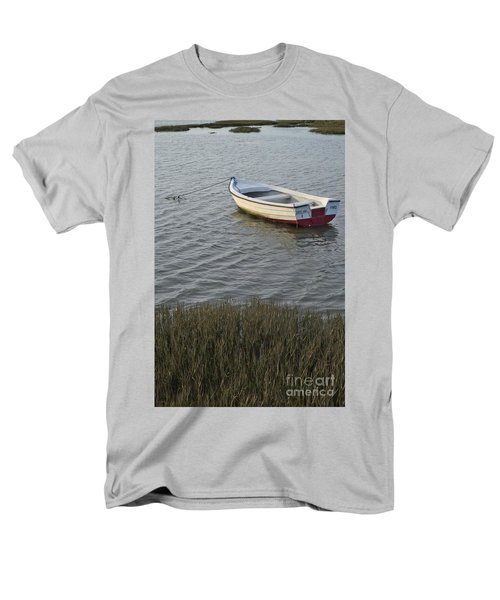Boat In Ria Formosa - Faro Men's T-Shirt  (Regular Fit) by Angelo DeVal