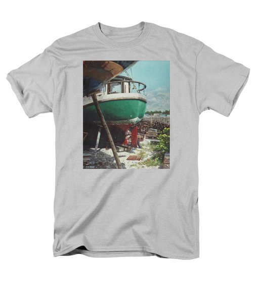 Boat Yard Boat 01 Men's T-Shirt  (Regular Fit) by Martin Davey