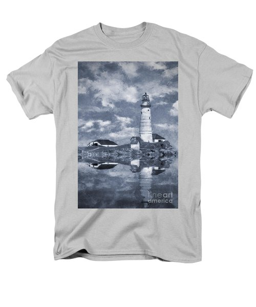 Men's T-Shirt  (Regular Fit) featuring the photograph Boston Light  by Ian Mitchell