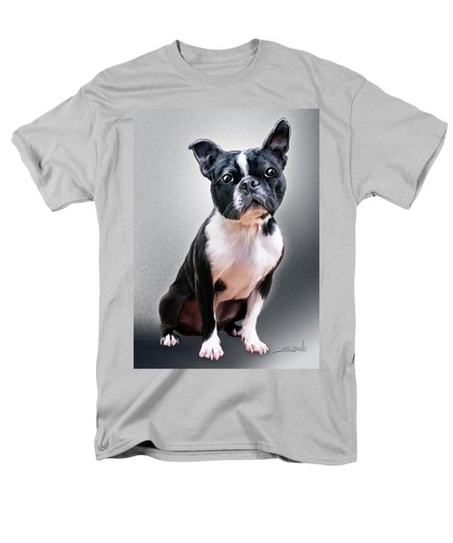 Boston Terrier By Spano Men's T-Shirt  (Regular Fit) by Michael Spano
