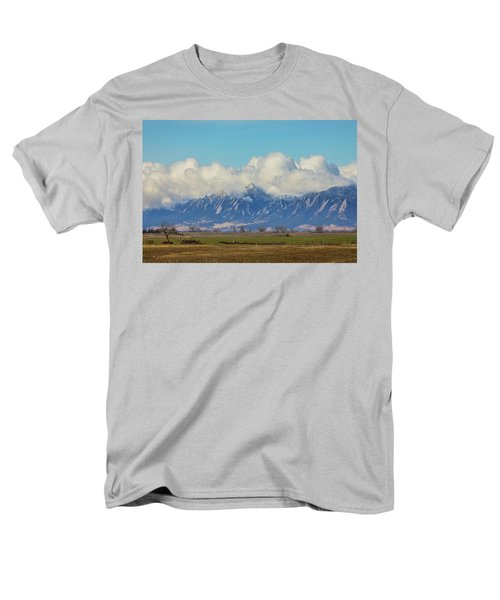 Men's T-Shirt  (Regular Fit) featuring the photograph Boulder Colorado Front Range Cloud Pile On by James BO Insogna