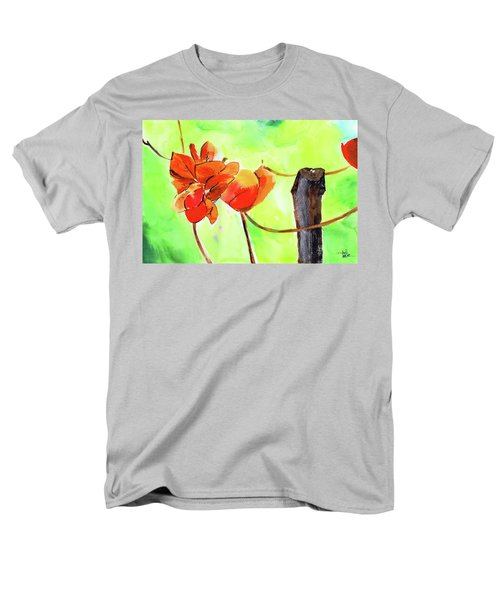Men's T-Shirt  (Regular Fit) featuring the painting Bound Yet Free by Anil Nene