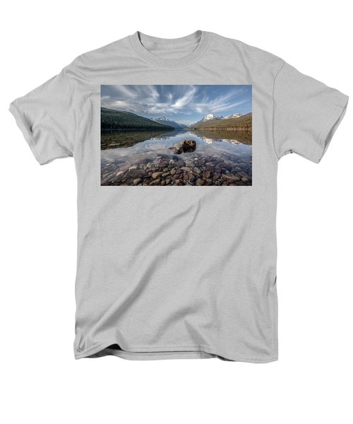 Men's T-Shirt  (Regular Fit) featuring the photograph Bowman Lake Rocks by Aaron Aldrich