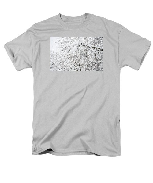 Men's T-Shirt  (Regular Fit) featuring the photograph Branches Weighted With Snow by Deborah Smolinske