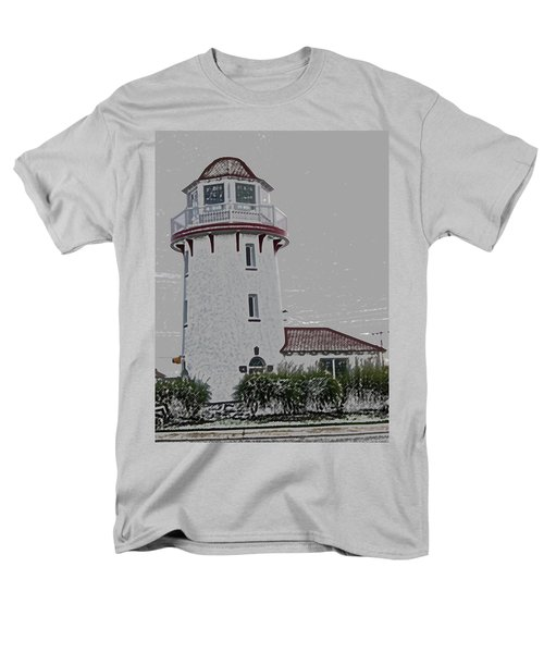 Brigantine Lighthouse Men's T-Shirt  (Regular Fit) by Trish Tritz