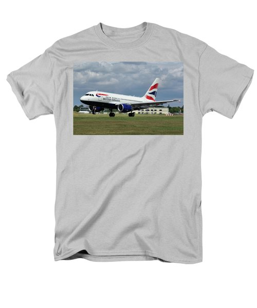Men's T-Shirt  (Regular Fit) featuring the photograph British Airways A318-112 G-eunb by Tim Beach