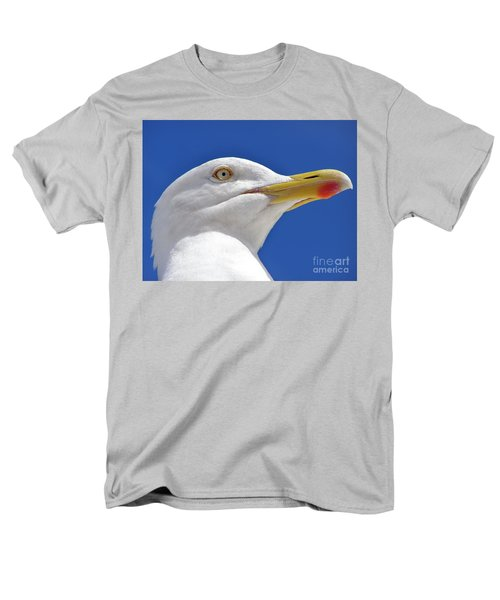 Men's T-Shirt  (Regular Fit) featuring the photograph British Herring Gull by Terri Waters