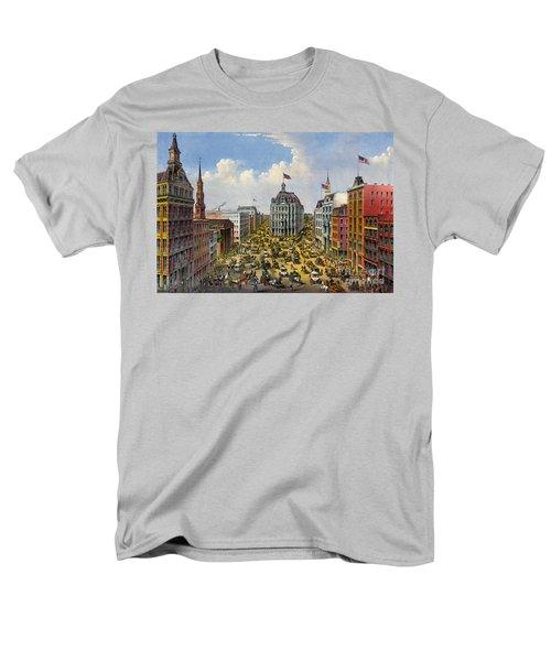 Broadway New York City 1875 Men's T-Shirt  (Regular Fit) by Padre Art