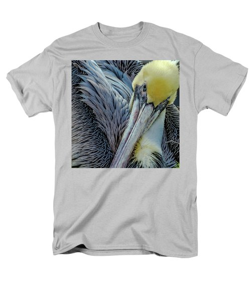 Men's T-Shirt  (Regular Fit) featuring the photograph Brown Pelican by Bill Gallagher