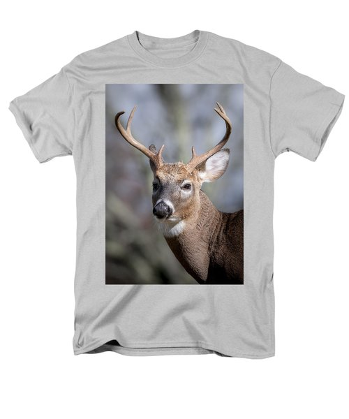 Men's T-Shirt  (Regular Fit) featuring the photograph Buck Headshot by Tyson and Kathy Smith