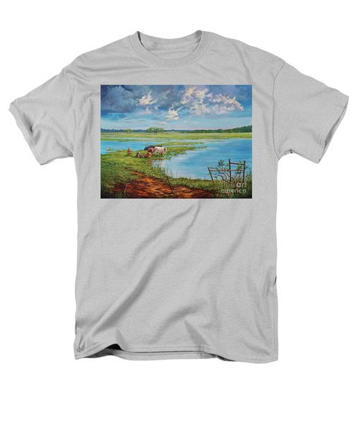 Men's T-Shirt  (Regular Fit) featuring the painting Bucolic St. John's by AnnaJo Vahle