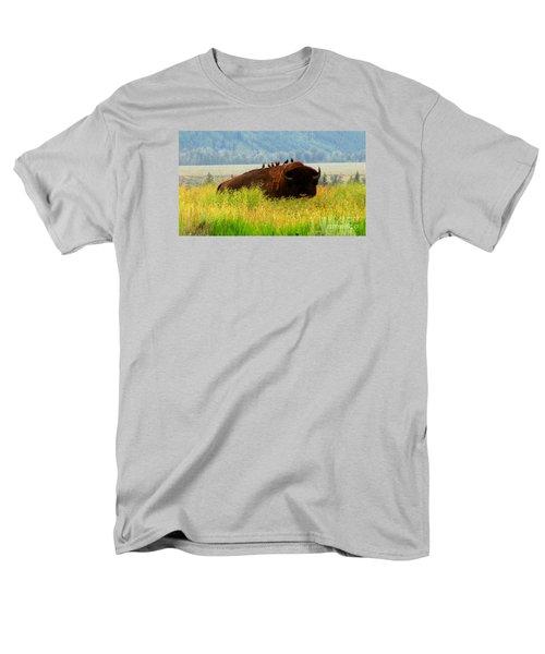 Buffalo Wings Men's T-Shirt  (Regular Fit) by Janice Westerberg
