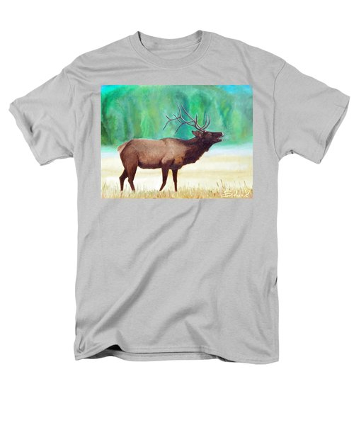 Men's T-Shirt  (Regular Fit) featuring the painting Bugling Elk by Sherril Porter