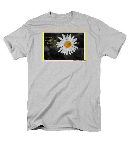 Men's T-Shirt  (Regular Fit) featuring the digital art Build A Child Up by Holley Jacobs
