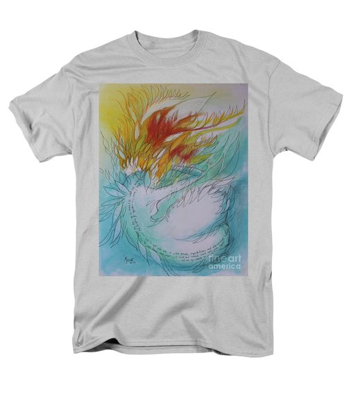 Men's T-Shirt  (Regular Fit) featuring the drawing Burning Thoughts by Marat Essex