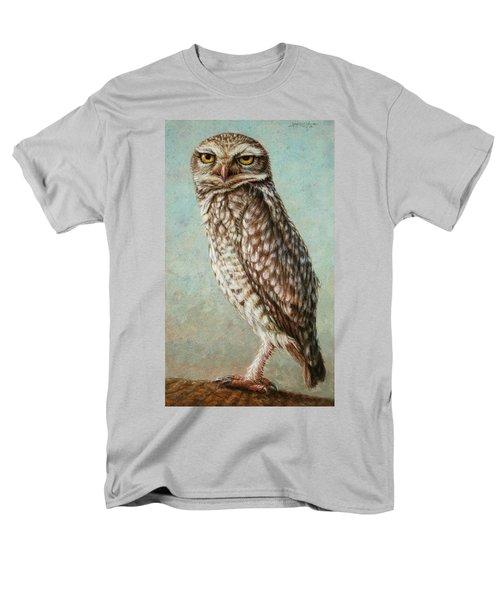 Burrowing Owl Men's T-Shirt  (Regular Fit) by James W Johnson