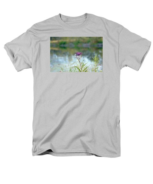 Men's T-Shirt  (Regular Fit) featuring the photograph By The Pond by Lila Fisher-Wenzel