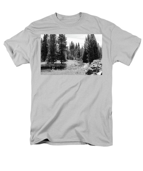 By The Stream Men's T-Shirt  (Regular Fit) by Christin Brodie