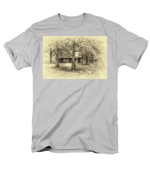 Men's T-Shirt  (Regular Fit) featuring the photograph Cabin In The Woods by Louis Ferreira